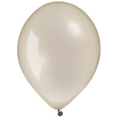 "12"" Pearl Latex Balloon Silver"