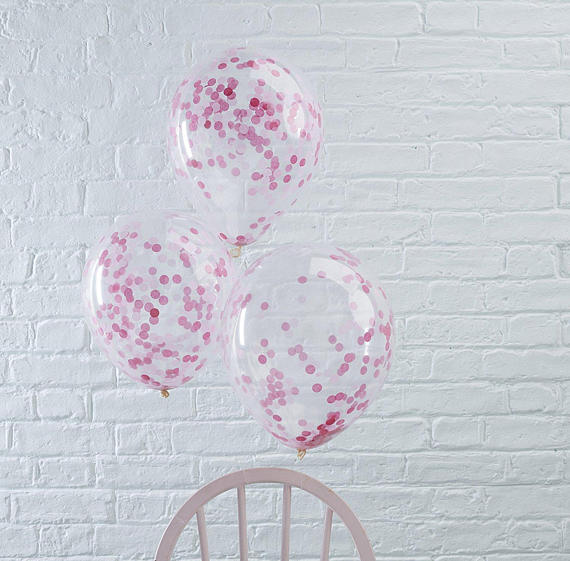 Confetti Balloon Bouquet (2 shades of pink)