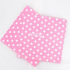 Polka Dot Pink Party Napkins