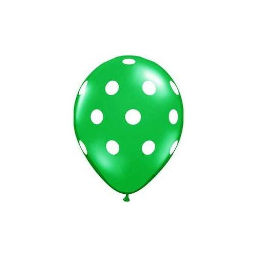 "12"" Polka Dot Latex Balloon Christmas Green"