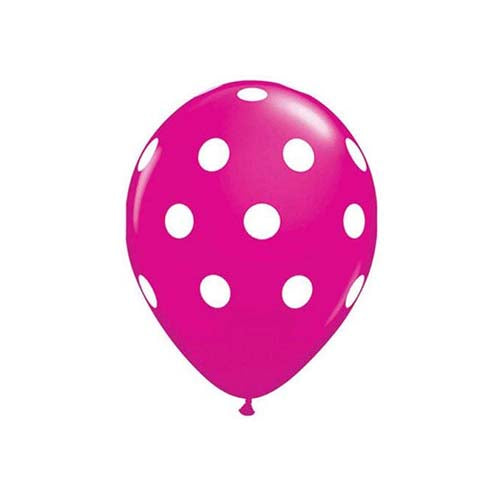 "12"" Polka Dot Latex Balloon Jewel Pink"
