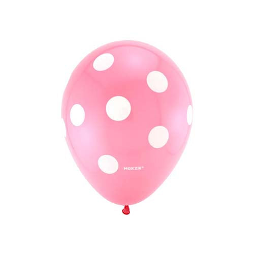 "12"" Polka Dot Latex Balloon Light Pink"