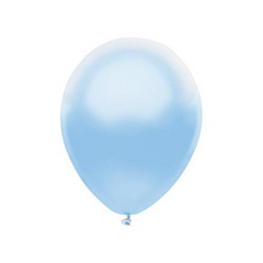 "12"" Pearl Latex Balloon Powder Blue"