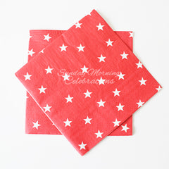 Red/White Star Party Napkins