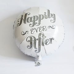 Silver Foil Balloon Happily Ever After