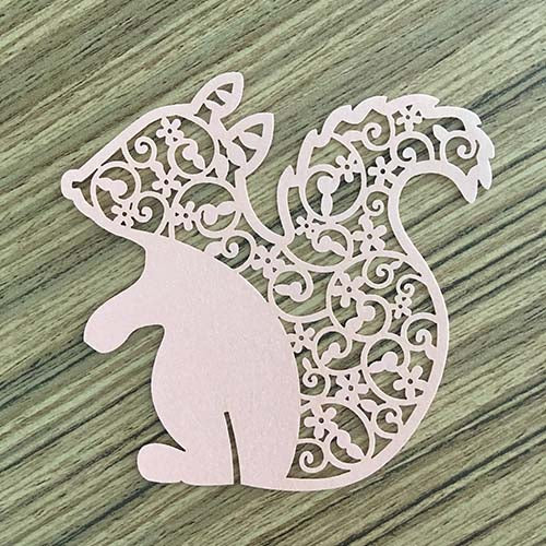 Squirrel Cut Out (Light Pink)