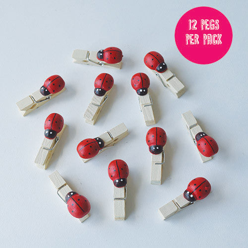 Lady Bird Wooden Pegs