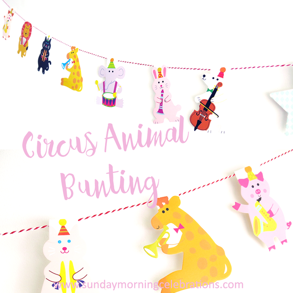 Circus Animal Party Bunting