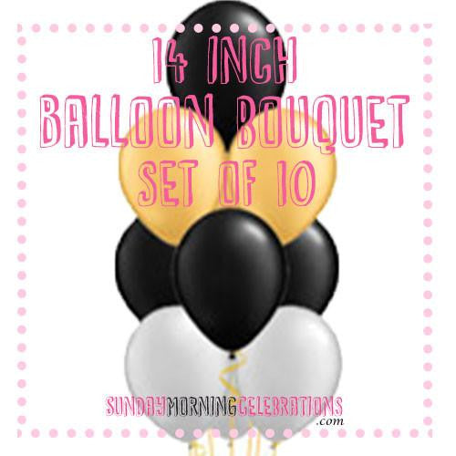 Balloon Bouquet (10 x 14 Inch Plain Latex)