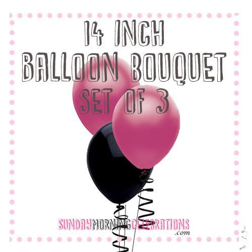 Balloon Bouquet (3 x 14 Inch Plain Latex)