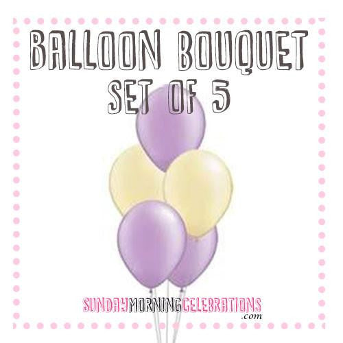 Balloon Bouquet (5 x 14 Inch Plain Latex)