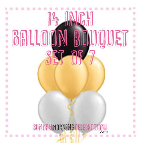 Balloon Bouquet (7 x 14 Inch Plain Latex)