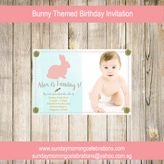 Bunny Themed Party Invitation