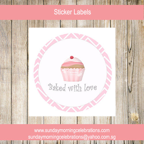 Cupcake Sticker Label