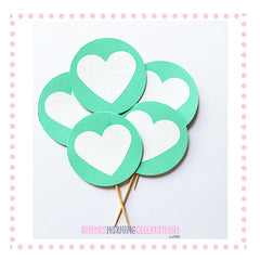 Cupcake Toppers - Tiffany Themed Party