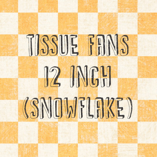 Tissue Fan (Snowflake)