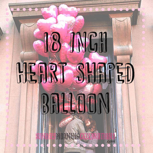 "18"" Heart Shaped Foil Balloon"