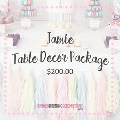 Jamie Table Decor Package