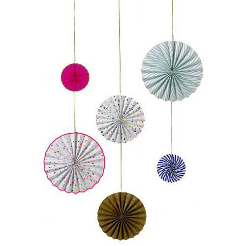 Meri Meri Toot Sweet 6 Pinwheel Decorations