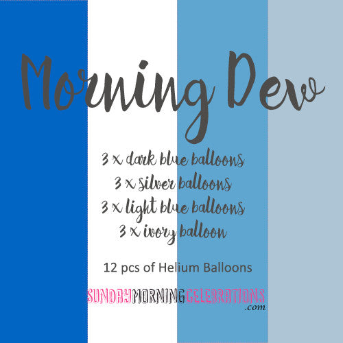 Morning Dew Latex Balloons
