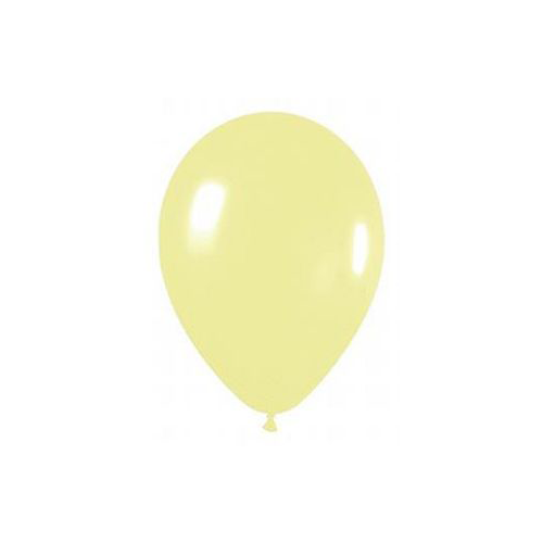 "12"" Pearl Latex Balloon Pearl Pastel Yellow"