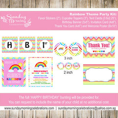 Rainbow Party Decor Package