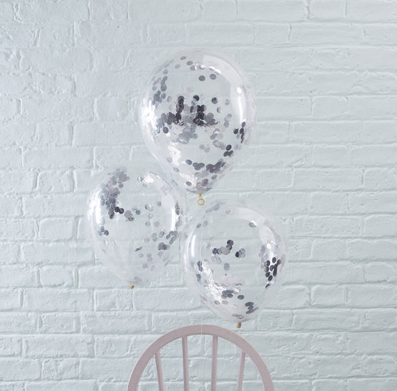 Confetti Balloon Bouquet (Silver)
