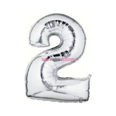 "16"" Number Metallic Silver Foil Balloon"