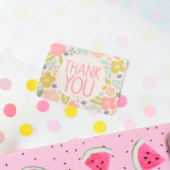Sweet Floral Thank You Stickers