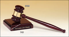 5120 Premium Series Rosewood Gavel and Sounding Block - American Trophy & Award Company - Los Angeles, CA 90022