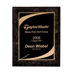 6C803 Black Marble finish designer series award plaque - American Trophy & Award Company - Los Angeles, CA 90022