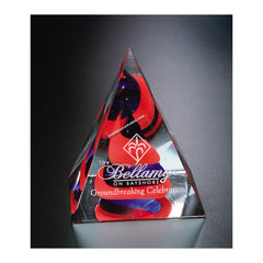 7210 Swirl Pyramid Art Glass Award - American Trophy & Award Company - Los Angeles, CA