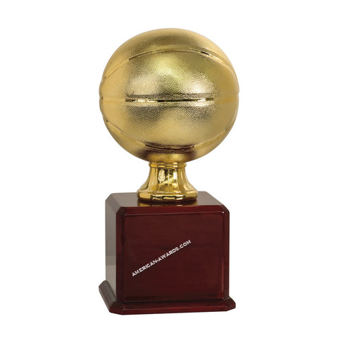 7S1402 | Gold Finish Basketball Trophy