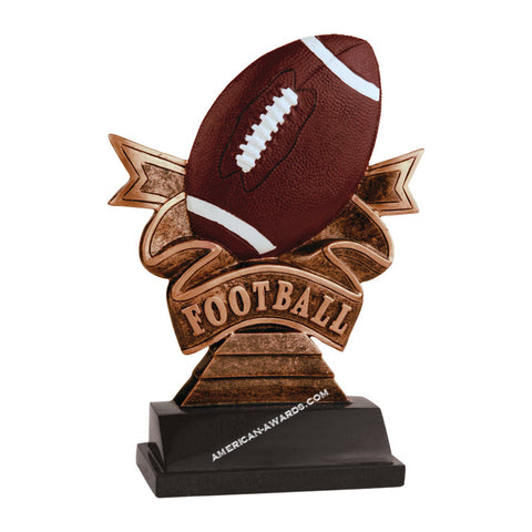 AT1810 | Football Ribbon Resin Award