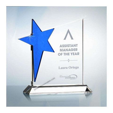 A1002 | Blue Star Crystal Award