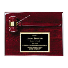 AGP-30 Piano-finish rosewood gavel mounted wall plaque - American Trophy & Award Company - Los Angeles, CA 90022