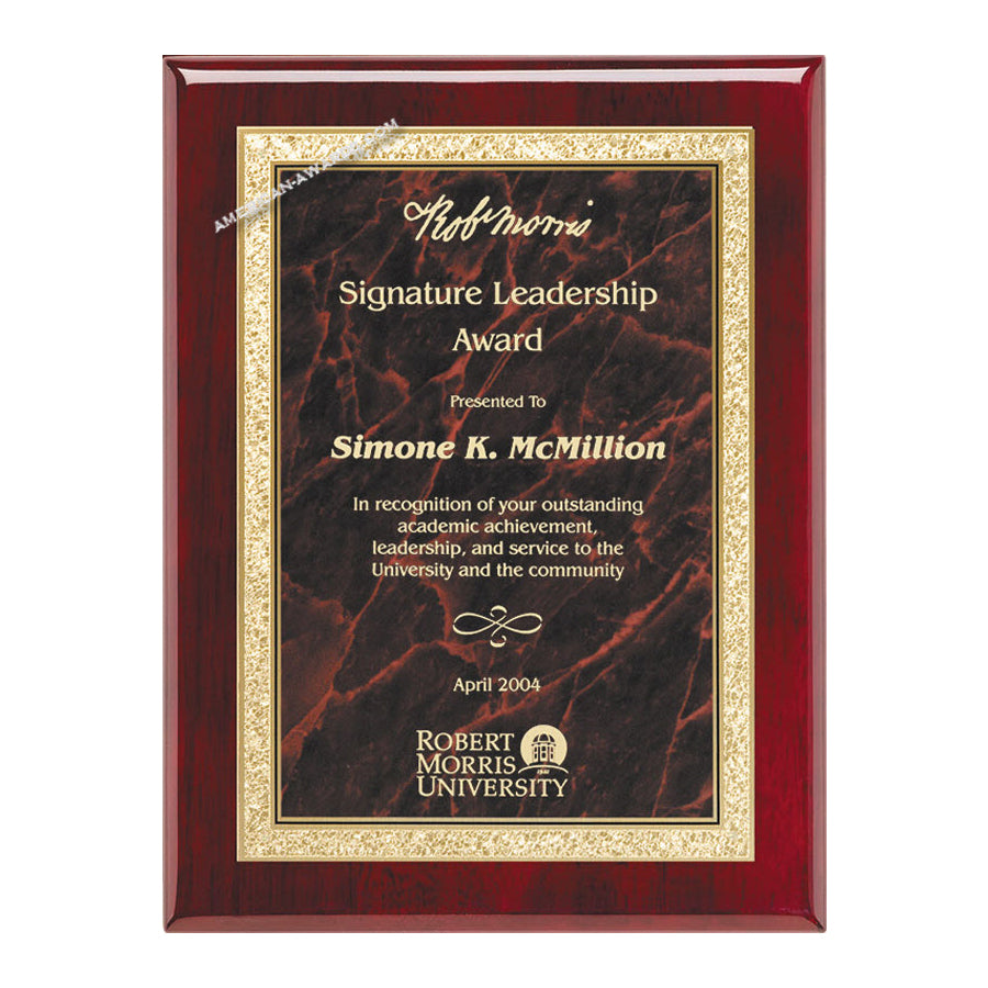AP19-R Rosewood Piano-finish Award Plaque - American Trophy & Award Company - Los Angeles, CA 90022