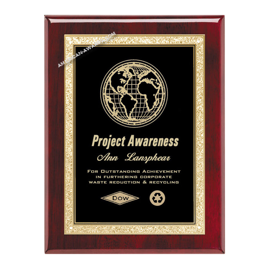 AP19-K Rosewood Piano-finish Award Plaque - American Trophy & Award Company - Los Angeles, CA 90022
