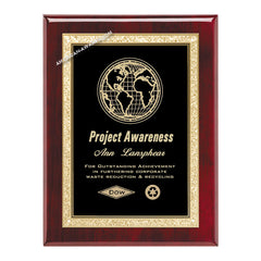 AP19-BK Rosewood Piano-finish Award Plaque - American Trophy & Award Company - Los Angeles, CA 90022