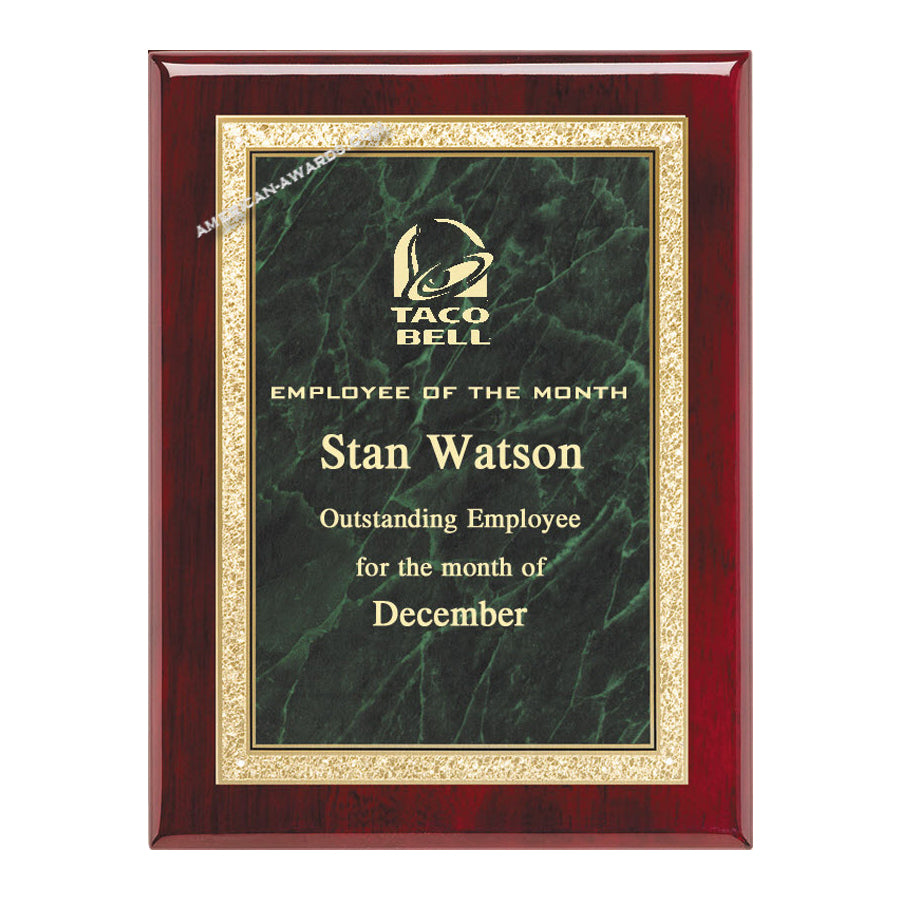 AP19-N Rosewood Piano-finish Award Plaque - American Trophy & Award Company - Los Angeles, CA 90022