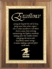 AP39 Walnut Recognition Award Plaque - American Trophy & Award Company - Los Angeles, CA 90012