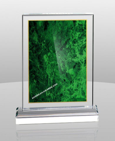 AT-706 | Marbleized Color Acrylic Standing Plaque