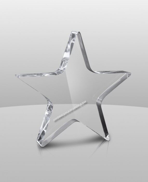 AT-632 Acrylic Star Paperweight - American Trophy & Award Company - Los Angeles, CA 90022