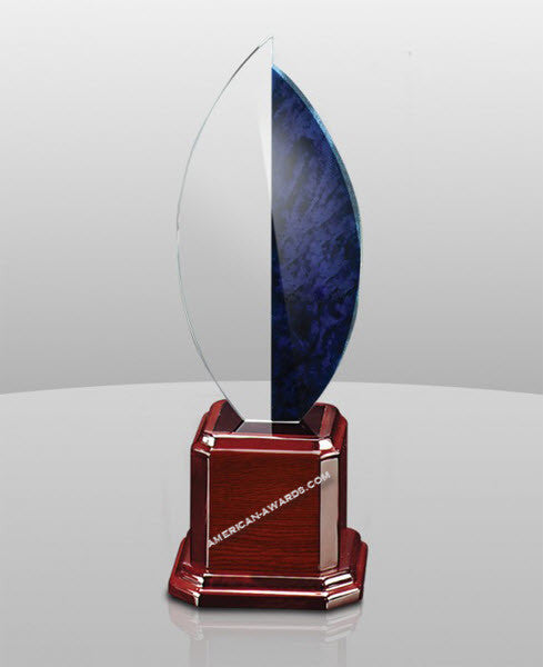 SB-858 Elegant Curvature Acrylic Flame Award - American Trophy & Award Company - Los Angeles, CA 90022