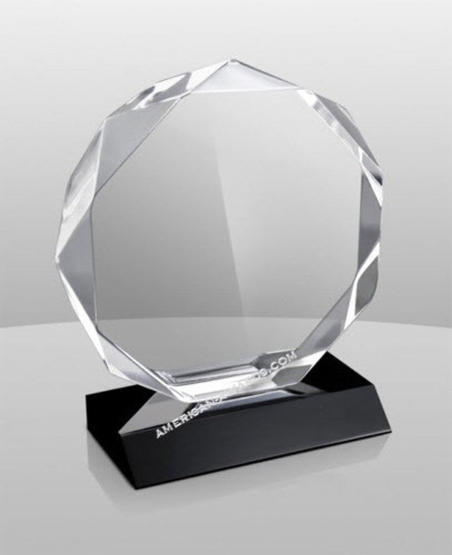 AT-858 Diamond Faceted Acrylic Award - American Trophy & Award Company - Los Angeles, CA 90022