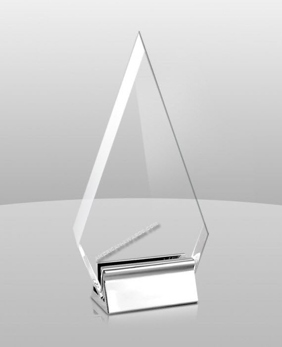 AT-862 Acrylic Fulcrum Award - American Trophy & Award Company - Los Angeles, CA 90022