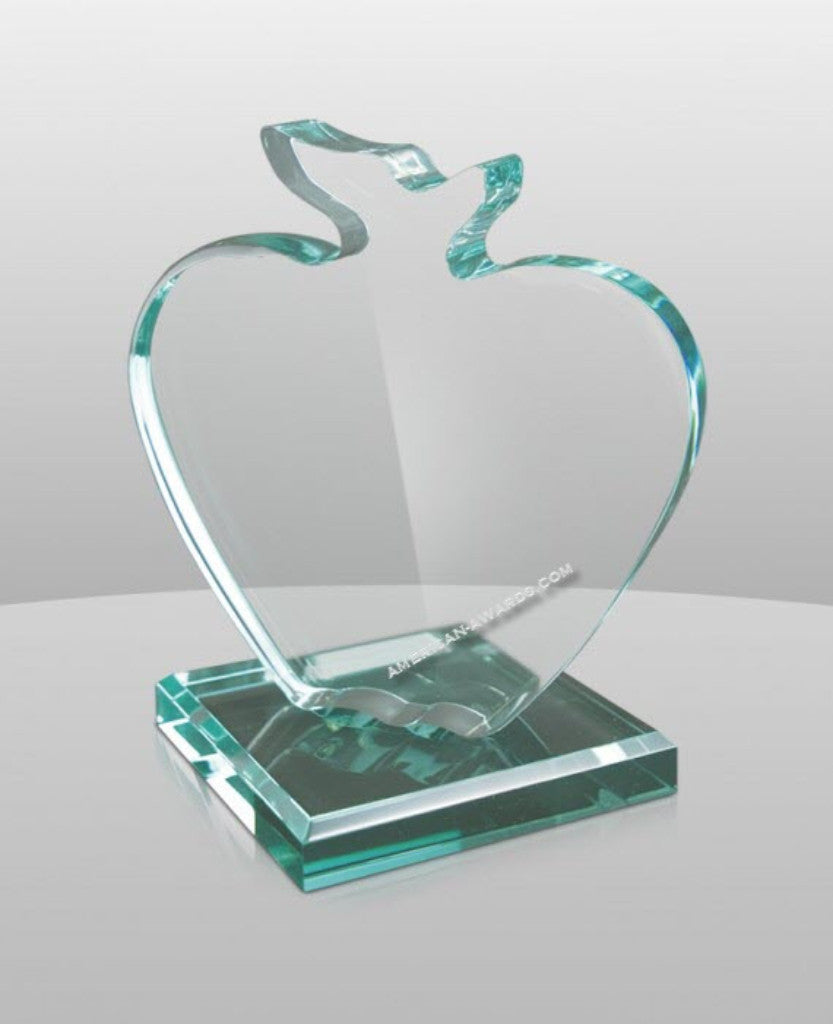 JD-871 Jade Acrylic Apple Award - American Trophy & Award Company - Los Angeles, CA 90022