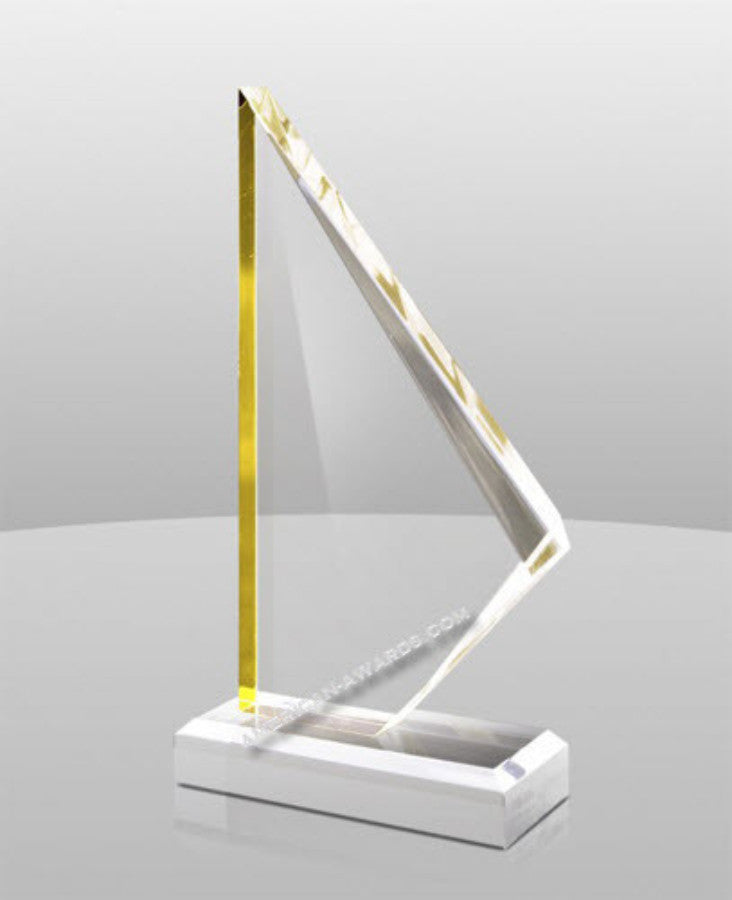 A-873 Golden Summit Acrylic Award - American Trophy & Award Company - Los Angeles, CA 90022
