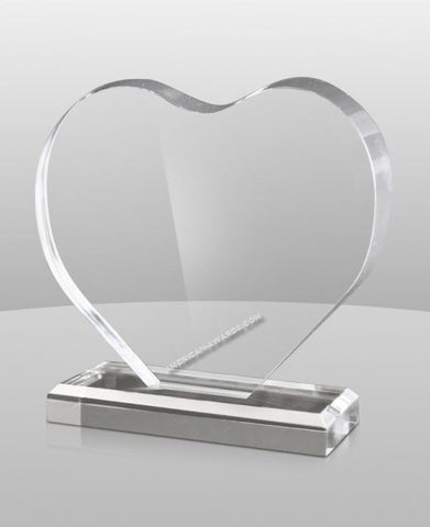 AT-878 | Acrylic Heart Shaped Award