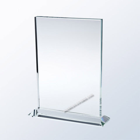 AT1056  |  Vertical Rectangle w/ Base |Starfire Glass